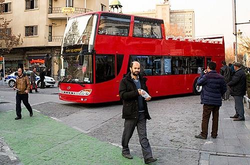 اتوبوس دو طبقه جدید در تهران