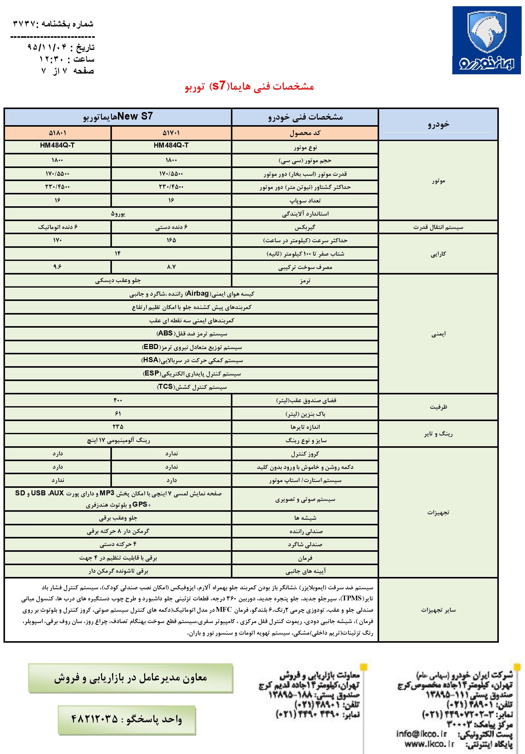 معرفی و مشخصات هایما S7 توربو محصول جدید ایران خودرو<br> <br>