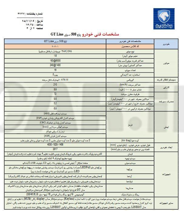 معرفی کامل پژو 508 محصول جدید شرکت ایران خودرو