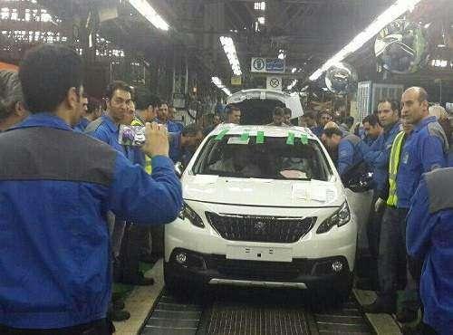 اولین دستگاه از پژو 2008 در ایران خودرو تولید شد