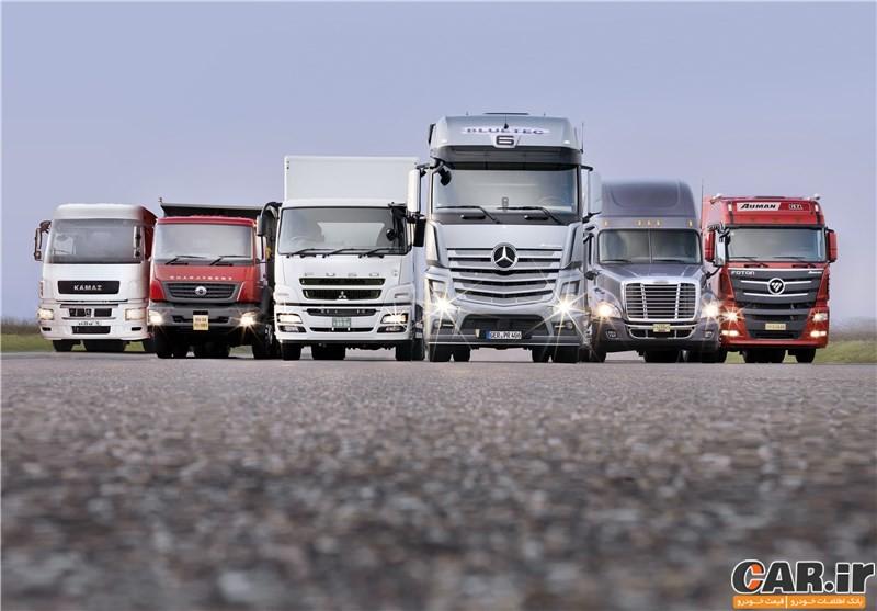 ورود کامیون های آلمانی به ایران