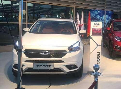 نمایش خودروی جدید چری تیگو7 برای اولینبار در برج میلاد