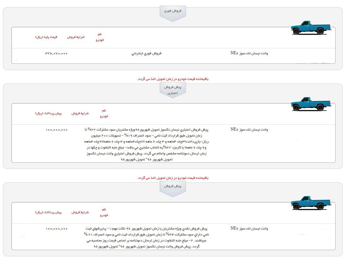 آغاز جشنواره فروش تابستانه وانت نیسان زامیاد با تسهیلات ویژه