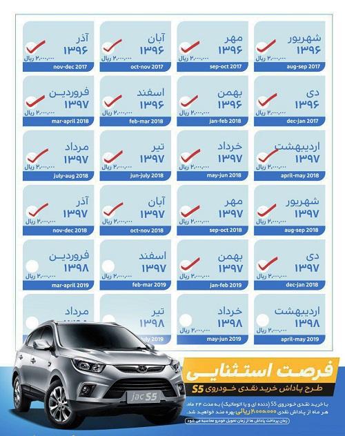 هدیه جالب توجه کرمان موتور برای خرید نقدی خودروی جک S5 - تیر 96