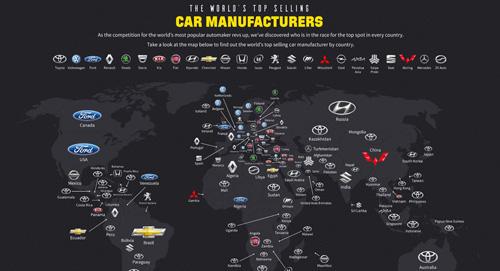تویوتا ، پرفروشترین برند خودرویی در 49 کشور مختلف دنیا