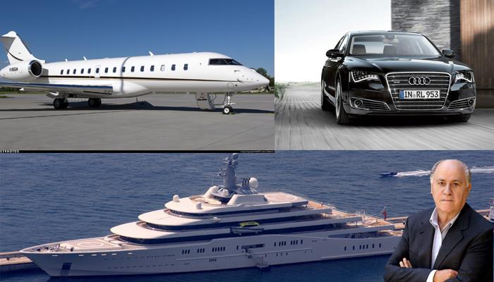 خودروهای زمینی، هوایی و دریایی مالک برند «زارا» یکی از سه مرد ثروتمند جهان