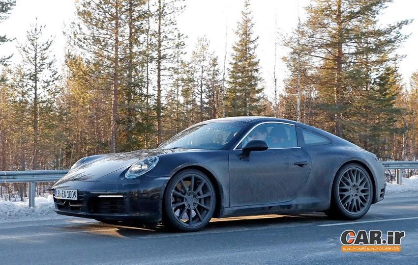 نسل بعدی پورشه 911: تصاویر جاسوسی مدل های 992 اسپرت 2019