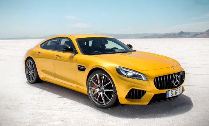جدید ترین سدان مرسدس AMG GT ، شکارعکاسان شد