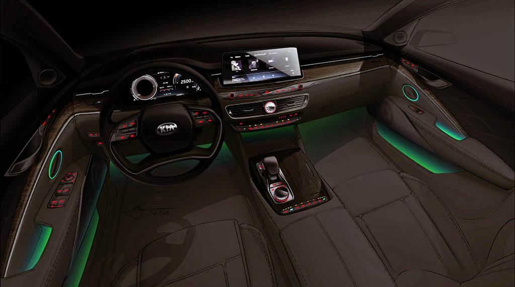 لو رفتن تصاویر نسل جدید خودروی لوکس کیا K900
