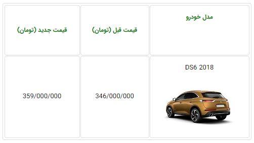 اعلام قیمت جدید خودروی DS6 مدل 2018 در ایران