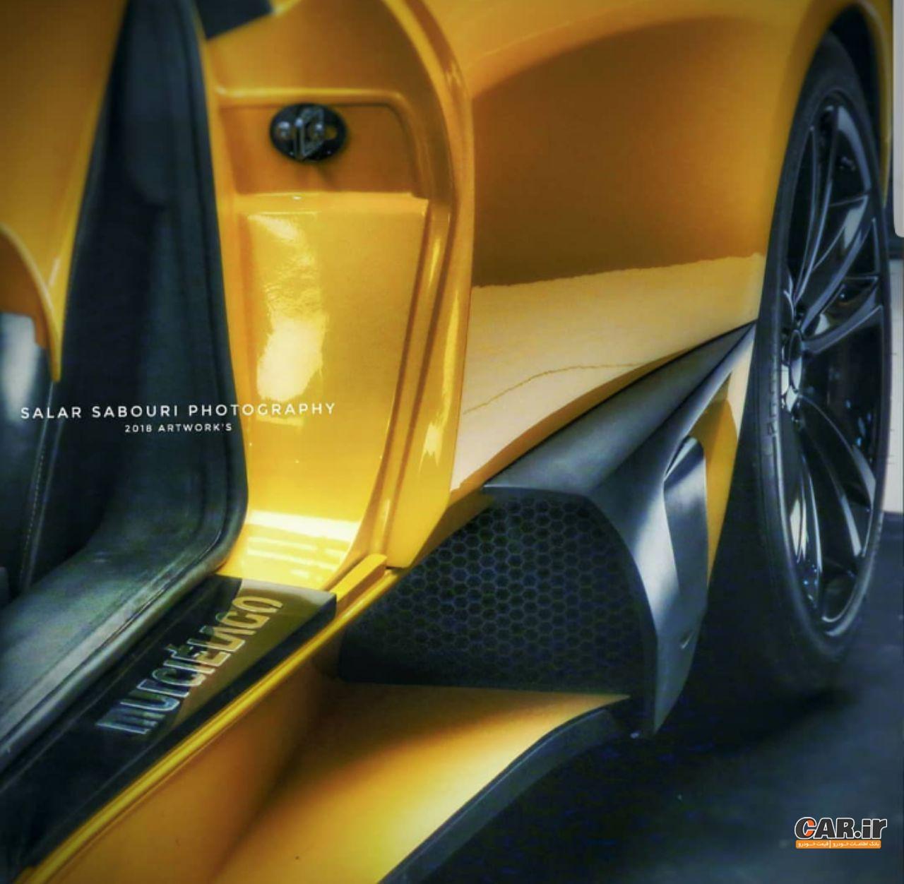 رونمایی از لامبورگینی ایرانی در نمایشگاه خودروی تبریز + عکس