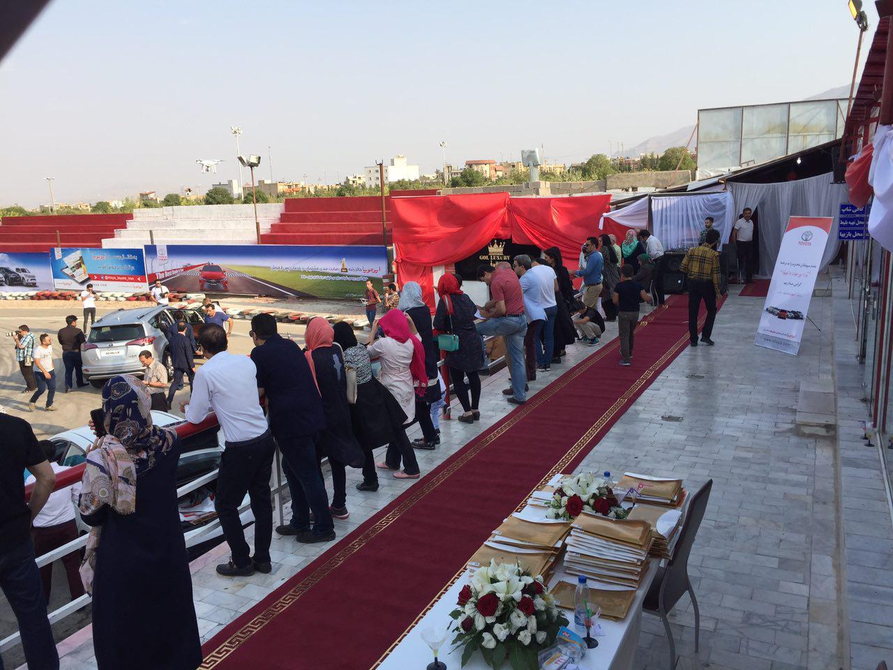 تست درایو تویوتا در شیراز